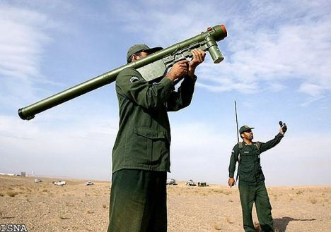 Chinese MANPAD in use by Iranian forces